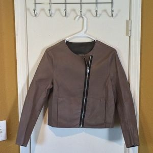 MUUBA womens M Palmira Bonded Lamb Leather Jacket